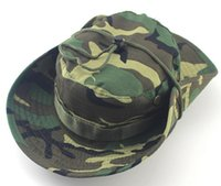 Wholesale Foldable Boonie Hats Round Camouflage Jungle Cap Camping Mountaineering Outdoor Fishing Hat Militares Army Bucket Hat Both For Men And Women