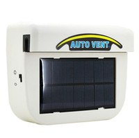 Wholesale New Car Energy Saving W Solar Powered Car Auto Vehicle Portable Heater Heating Cooling Fan Air Vent Ventilate