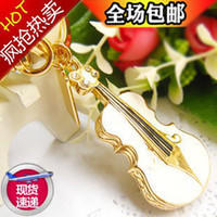 Wholesale Lovely gifts U disk g disk g disk g crystal violin key crystal jewelry creative u g
