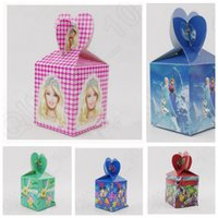 Wholesale Cartoon Candy Box Children birthday party candy box Gift box DIY chocolate boxes minnie frozen average candy boxes KKA867
