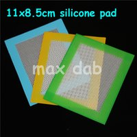 Wholesale Silicone wax pads dry herb mats small x8 cm silicone mat dabber sheets jars dab tool for dabber oil containers FDA