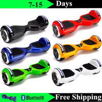 Wholesale Phone App Hoverboard Bluetooth LED Scooter Electric Skateboard Self Balancing Wheel Music Speaker Smart Balance Scooter inch Two Wheels