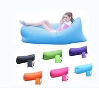 Wholesale 9 Colors Fast Infaltable Sleep Bag Seconds Quick Open Lazy Sleeping Bed Folding Sofa Beach Sleep Bed