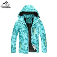 Wholesale NEW Women Winter Warmth Coats Hooded Ski Jacket Waterproof Windproof Breathable Snowboarding Outerwear Outdoor Hiking Sportwear