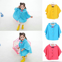 Wholesale Children s Emergecy Rain Poncho Cute Kids Bow Hooded Rain Coat Waterproof Outfit Jacket for Age