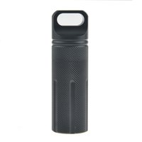 Wholesale New Home Outdoor Essential Goods EDC Tool High Denstiy Aluminium Waterproof Bottle Travel Sealed Medicine Case