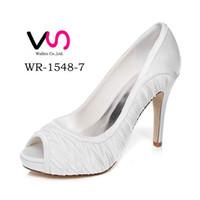 Wholesale 10cm Heel Platfrom Elegance Delicate Style Wedding Shoe Evening Shoes High Heel Bridal Shoes Party Prom Women Shoes bridal shoes Party Shoes