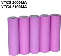 Wholesale High Quality Lithium Battery VTC3 VTC4 VTC5 battery for e cigarette mod e cig V mAh mAh mAh Fedex Shipping