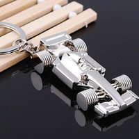Wholesale 10pcs NEW Fashion Formula One Grand Prix style Stainless steel key chain Gold keychains best gift