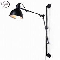 antique bathroom light fixtures - New Replica Designer adjustable antique modern industrial Long swing arm wall lamp lights for Bathroom Vanity sconce fixture