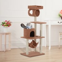 Wholesale New Cat Tree Tower Condo Post Cat Scratcher Pet House Toy Furniture Play