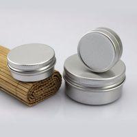 art aluminium - 30ML Makeup Aluminium Jar Tin Pot Nail Art Lip Gloss Empty Cosmetic Container Screw Thread Maquillage