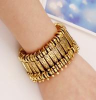 Wholesale Vintage Punk Style Bracelets Women Fashion Antic Silver Antic Gold Tennis Bracelet Lady Metallic Bracelet