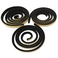 Wholesale 2m Single Sided Self Adhesive Foam Sealing Tape Strip mm x mm Draught Excluder EPDM Rubbe Excellent Shock Absorption