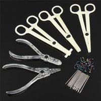 belly piercing needle - 2016 Set Ear Body Piercing Jewelry Kit Sterile Belly Body Ring Needle Sets Cartilage Tools New Arrival