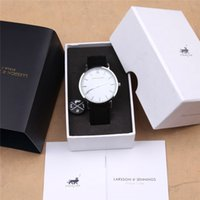 Wholesale New Hot Brand Larsson Jennings Watch For Mens Women Fashion Casual Quartz Watch Leather Watch mm Relojes LJ Watches with box package