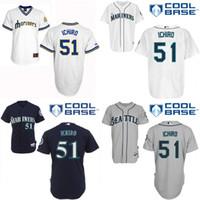 authentic mlb jerseys - White Throwback Ichiro Suzuki Authentic Jersey Men s MLB Seattle Mariners Cooperstown