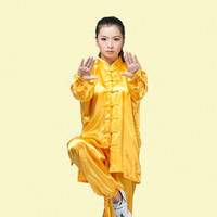 Wholesale Super Qulaity Healthy Silk Tai Chi Clothing Training and Stage Tai Chi Dance Traditional Suits with Plus Size XL