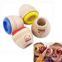 Wholesale New Children s Cute Wooden Kaleidoscope Wood Toy Magic Bee Eye Effect for Kids Birthday Gift