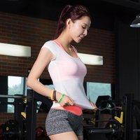 bamboo equipment - 2017 New Arrival Bamboo Cotton Bodybuilding Equipment Gym Top Shirt Yoga Short sleeved T shirt Fitness Women Tank T Shirts Sportes