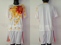 Wholesale 2016 Spain away soccer jersey Sets Men size Top quality Can put any name and number accept mix order