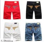 Wholesale New Robin running shorts Men Fashion Designer Famous Brand Robins Jean Shorts Denim Jeans Robin cargo shorts for Men Plus size