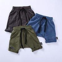 Wholesale new boby boys geometric patch fashion cotton harem shorts toddler shorts