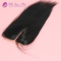 Wholesale inch Straight Top Closure Virgin Brazilian Hair inch Hidden Knots no tangle
