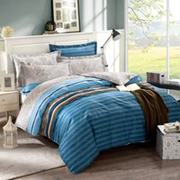 Wholesale North American style cotton reactive printing bedding set bedsheet duvet cover pillowcases