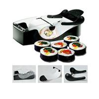 Wholesale Perfect DIY Roller Machine Roll Sushi Maker Easy Kitchen Magic Gadget Cooking Tools Curtain Bento Acessorios De Cozinha Rolls freeshipping
