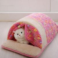 Wholesale Hot Sale Pet Products Warm Soft Cat Dog House Pet Sleeping Bag Lovely Dog Kennel Dog Bed Puppy Kitten Pet Nest JJ0039