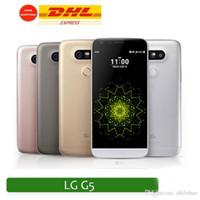 G5 Téléphone Quad core 64bit 3G RAM 64G ROM montrée 4G LTE Android 6.0 LCD 5.0 pouces L G5 Wifi Smartphone Batterie non amovible Smartphone