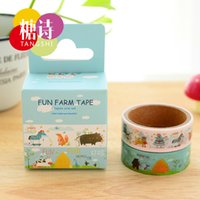 Wholesale 24 Fun farm washi tape Floral adhesive tapes Cute animal Masking tape Stationery Office material School supplies