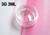 Wholesale 3G ML PS Pots plastic cosmetic cream jar bottle Cosmetic Sample Container Packaging