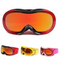 Wholesale Children Ski Goggles Real REVO Lens Anti burst Anti fog Spherical Boys Girls Snowboard Glasses Children Skiing Sunglasses