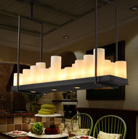 altar candles - Kevin Reilly Altar Modern Pendant Lamp Remote Control Chandelier Candle Light Fixture Suspension Lamp Rectangular Wrought Iron Pendant Light