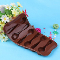 bakery cake designs - 6 Silicone Baking Mould Spoon Design Chocolate Cake Biscuit Candy Jelly Mold Decor Bakery Tool