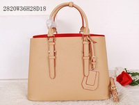 apricot tote - Women BG820 Apricot Saffiano Cuir Leather Tote Double Leather handle steel hardware snap closure side nappa lining inside flap pocket