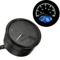 Wholesale 2016 New LCD Digital Tachometer Speedometer Odometer Motorcycle Motorbike RPM F1 Cylinders
