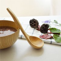 Wholesale Soup Ladle With Belt Hook Solid Wood Cooking Tools cm Beech Rubber Wood Spoons MOQ piece