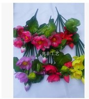 Wholesale Lotus water lily Plastic artificial flowers Silk flowers small potted Household adornment put flowers MOQ