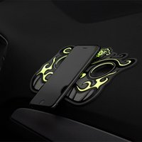 Wholesale 1Pair Noctilucent Car Anti skid Pad Brave Troops Pattern Phone Car Mat Accessories Ward off Evil Incurs the Wealth Universal