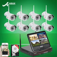 Wholesale 2TB HDD CH quot LCD NVR Wireless Security System P2P P IP Camera WIFI HD H Outdoor IR Night Vison Home Surveillance Kit