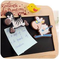 Wholesale Creative home refrigerator magnet cute cartoon message board decorative magnet magnet silica three dimensional animal