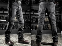 Wholesale NEW Fashion Men Women KOMINE motorcycle Jeans motorcycle Riding racing pants With Pads blue black S XL