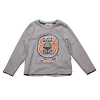 Wholesale 2016 Spring Autumn fashion Kids Clothing Long Sleeved Character boy child Tees Breathable Comfortably cotton Tops gray