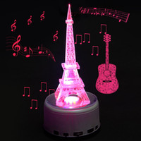 jewelry mirror - Music Rotating Remote Control Crystal Display Base Stand LED Light Mirror base with G SD card crystal Jewelry watch display