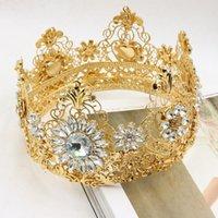 acting photos - The bride european style luxury high grade tire crown golden circle hair studio photos deserve to act the role of the baroque diam