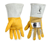 aluminum mig welder - Welding gloves high temperature resistant welder glove cowhide aluminum heat resistant TIG MIG Work Glove
