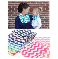 chevron scarves - Infinity Scarf Fashion Chevron Wave Print Scarf Circle Loop Cowl Infinity Scarves Ladies Scarves Voile Multi color printing Women scarf